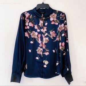 Ted Baker Laniie Arboretum Floral Blouse Shirt Sz8